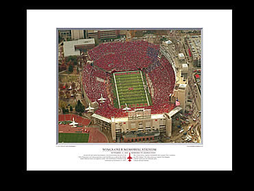 Prange Aerial Photography: Print Wings Over Memorial Stadium